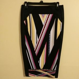 Bisou Bisou colorful pencil skirt 2